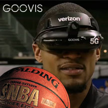 NBA + Verizon 5G + Goovis headset